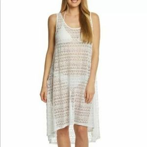 Profile by Gottex NWT White Crochet Cover Up L